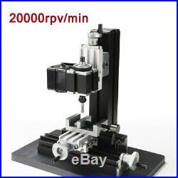 100240V Metal Mini Milling Machine DIY Woodworking Tools Student Modelmaking