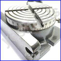 100MM 4 Rotary Table 4 Slot Horizontal Vertical Milling ANCHOR TOOLS UK