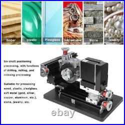 100-240V 60W High Power All-Metal DIY Drilling Milling Machine XYZ Shaft