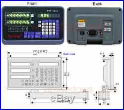 10 40 2 Axis Digital Readout TTL Linear Glass Scale Mill DRO Kit 250&1000mm US