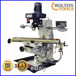 10 x 48 Vertical Knee Milling Machine Mill Drill with Power Feed and DRO 440V