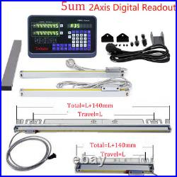 12 & 36 2Axis Digital Readout TTL Linear Glass Scale for Bridgeport 9X42 Table