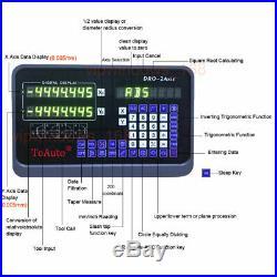 12 & 36 2 Axis Digital Readout Linear Scale Encoder DRO Milling Lathe Machine
