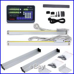 12 & 40 Digital Readout 2axis Ttl Linear Glass Scale MILL Lathe Dro Kit Cnc, Us