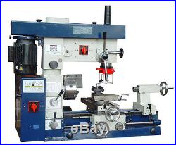 12 x 20 Bolton Tools Combo Metal Mill Drill Head Milling Machine AT520