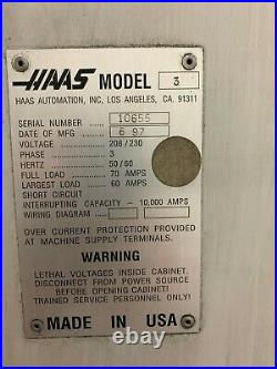 1997 Haas VF3 With VECTOR DRIVE 10000 RPM Spindle
