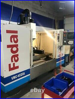 2000 Fadal VMC 4020A 917-1 CNC Mill and VH65 Fourth Axis / CAT 40 ER32