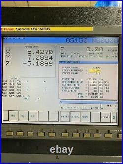 2006 Fadal VMC 4020 CNC with FANUC Controller and 2 Kurt Vises