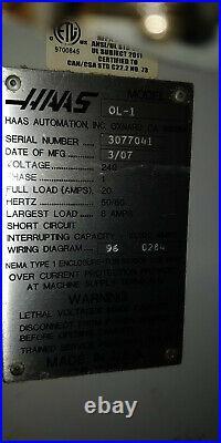 2007 Haas OL-1 CNC LATHE