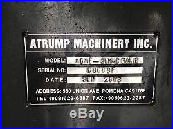 2008 ATRUMP 3VK 3-AXIS CNC KNEE MILL with Centroid Ctrl, 10x54 Table