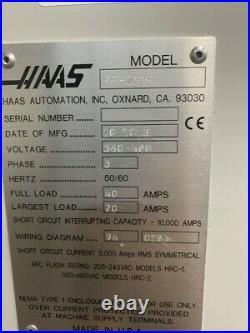 2013 Haas VF-2SS CNC Vertical Machining Center