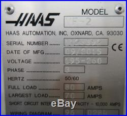2015 HAAS VF2 CNC VERTICAL MACHINING CENTER Milling Machine Free Loading
