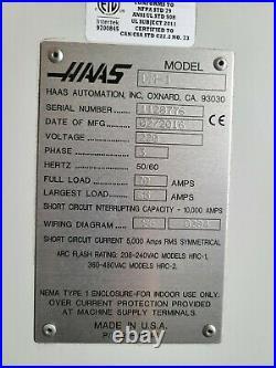 2016 HAAS DM-1 Vertical Machining Center, 15,000rpm Spindle, Renishaw Probe