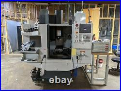 2018 haas dm2 cnc milling machine, 4th axis and lots of tooling