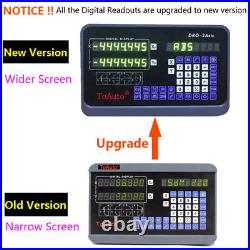 2 Axis Digital Readout DRO Display+8&38 Linear Scale Kit Encoder Mill Lathe US