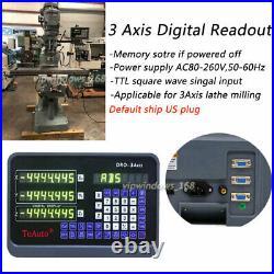 3Axis DRO Digital Readout Linear Glass Scale Bridgeport Mill 450&500&1000mm, US