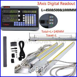 3Axis Digital Readout DRO for Milling Lathe Machine with Procision Linear Scales