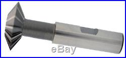 3/4 Diameter 60°Degree Included Double Angle Cutter HSS Moon Cutter USA