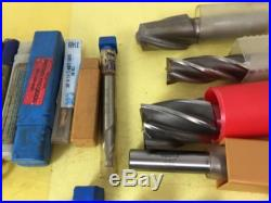 44 END MILL BOX LOT, Greenfield, Sossner, Melin, Morse, Cleveland, More, NR