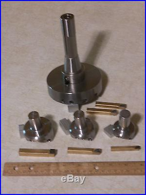 4 Pc. NEW Large Fly Cutter Set & Carbides Top Qualilty! USA