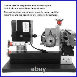 60W High Power All-Metal Drilling Milling Machine XYZ Shaft 100-240V US Plug