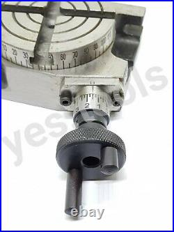75MM 3 Rotary Table 4 Slot Horizontal Vertical Milling Anchor