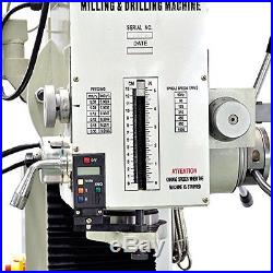 9 1/2 x 40 Bench Top Milling Machine 3 Axis Power Feed ZX45A Free Shipping