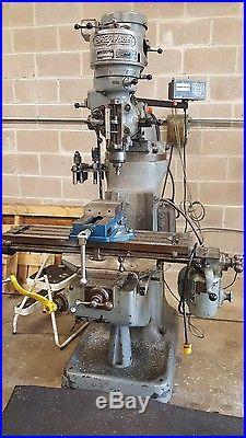 9 x 36 Bridgeport 1HP, Vertical Milling Machine