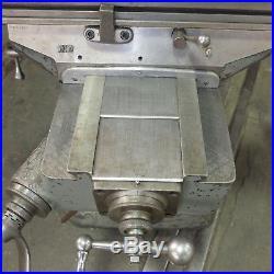9 x 42 Bridgeport Vertical Milling Machine Model J, Bridgeport Power Feed