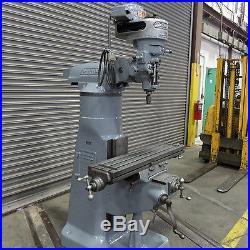 9 x 42 Bridgeport Vertical Milling Machine, Model J, Good Condition