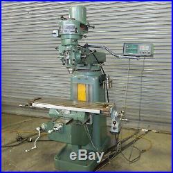9 x 42 Jet / Kent Vertical Milling Machine, Model JVM-942K, DRO & Feed