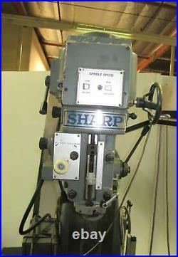 9 x 54 SHARP VH-2 Vertical Horizontal Mill Milling Machine With SERVO II 3HP
