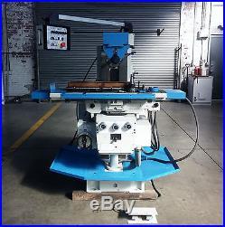 AUERBACH HORIZONTAL MILLING MACHINE FU-250 UNIVERSAL TABLE POWER DRAWBAR