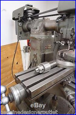 Atlas Clausing Vertical Mill Milling Machine 8520 With Accessories Excellent Cond