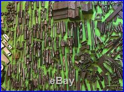 BIGGEST Machinist Tool Lot EVER! Made in U. S. A Carbide End Mill Bit + MORE