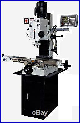 BOLTON TOOLS ZX45PD DRO POWER FEED MILLING MACHINE MILL DRILL STAND INCLUDED