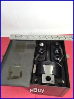 BRIDGEPORT #2 BORING HEAD, Kit, In Metal Box, Textron, Nice Shape, NO RESERVE