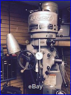BRIDGEPORT 48 X 9 SERIES 1 1HP VERTICAL MILL with2-AXIS MITUTOYO DRO & TOOLING