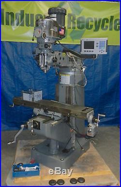 BRIDGEPORT 9 x 49 Knee Mill Package 2 Hp 230V 3Ph + 2 Axis DRO