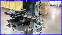 BRIDGEPORT J HEAD 9X42 VERTICAL MILLING MACHINE DRO & SERVO POWER FEED