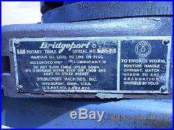 BRIDGEPORT KNEE MILL, 12 ROTARY TABLE