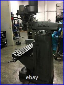 BRIDGEPORT MILLING MACHINE 9x42in TABLE SERIES 2 SPECIAL 2HP HEAD