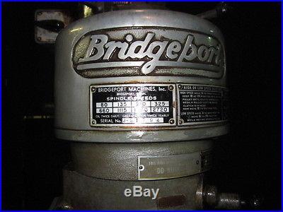 BRIDGEPORT MILLING MACHINE with EXTRAS