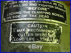 BRIDGEPORT RIGHT ANGLE MILLING HEAD ATTACHMENT R8