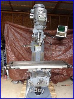 BRIDGEPORT SERIES I 2HP 9X49 MILLING MACHINE DRO STK 4600