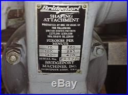 BRIDGEPORT SHAPING ATTACHMENT SHAPER HEAD METAL SHAPER FOR MILL MILLING MACHINE