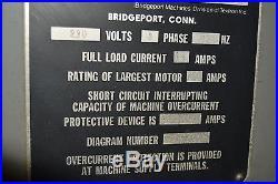 BRIDGEPORT Series 1 3 AXIS CNC MILLING MACHINE