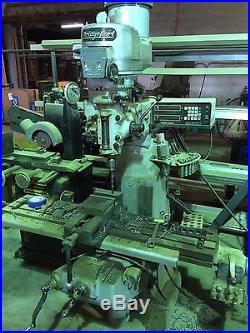 BRIDGEPORT VERTICAL MILLING MACHINE 9X42 DRO
