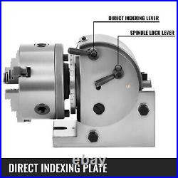 BS-0 5 Indexing Dividing Spiral Head 3-Jaw Chuck Tailstock CNC Milling New