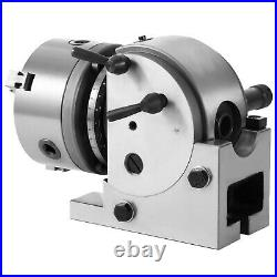 BS-0 Precision Dividing Head With 5 3-jaw Chuck & Tailstock For CNC Milling New